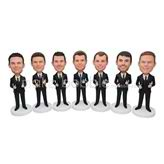 Creative seven groommen bobblehead with black suit