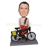 Personalized biker bobblehead with cool bike