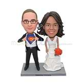 Personalized superman wedding bobble head doll