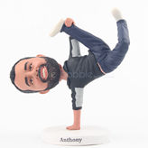 Personalized funny Hip-hop man bobblehead