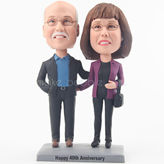 High quality couple bobble head doll for anniversary gift