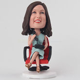 Unique bobblehead for her talking on the phone
