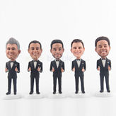 Custom personalized groomsmen gifts bobblehead dolls