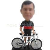 Bobble head custom Bicycle with man