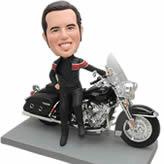 Bobble head custom man with Motorcycle