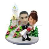 Personalized custom Castle wedding bobbleheads