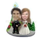 Personalized custom Church wedding bobble head