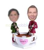 Personalized custom couple bobble heads