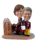 Personalized custom Happiness couple bobblehead