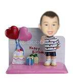 Personalized custom happy birthday bobbleheads
