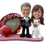 Personalized custom love story wedding bobbleheads