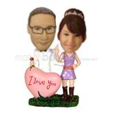 Custom lovers  bobbleheads dolls