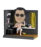 Personalized custom male in the bath bobbleheads