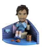 Personalized custom man in the toilet bobbleheads