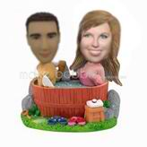 Personalized custom Mandarin Duck bath bobbleheads