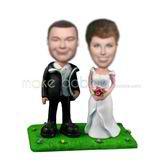 Personalized custom Meadow wedding bobble heads
