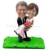 Personalized custom Meadow wedding bobbleheads