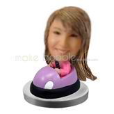 Personalized custom Pink bumper car bobblehead