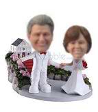 Customized  sweet wedding bobble heads