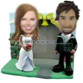 Make your own bobblehead wedding cake toppers