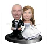 Personalized custom Classic wedding bobbleheads