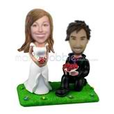 Personalized custom wedding bobblehead dolls
