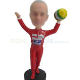 Custom sports bobble head with red jersey