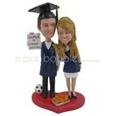 These two college students graduate custom bobbleheads