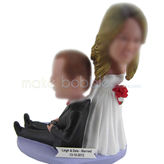 Custom personalised wedding cake bobble