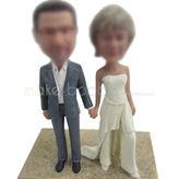 Create cheap wedding cake bobble doll