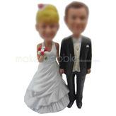 Personalised wedding cake bobbleheads