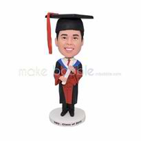 Personalized custom male Graduation bobbleheads doll
