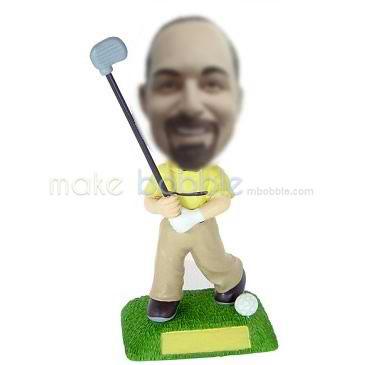 golf personalized bobble head