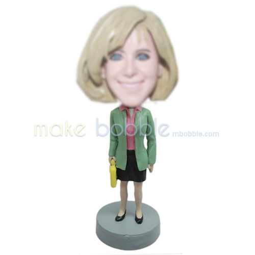 custom office woman bobbleheads