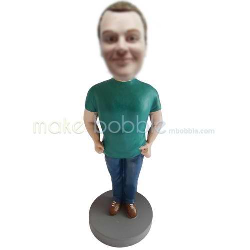 Customized casual funny man bobble head