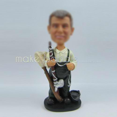 Custom bobblehead Fishing doll