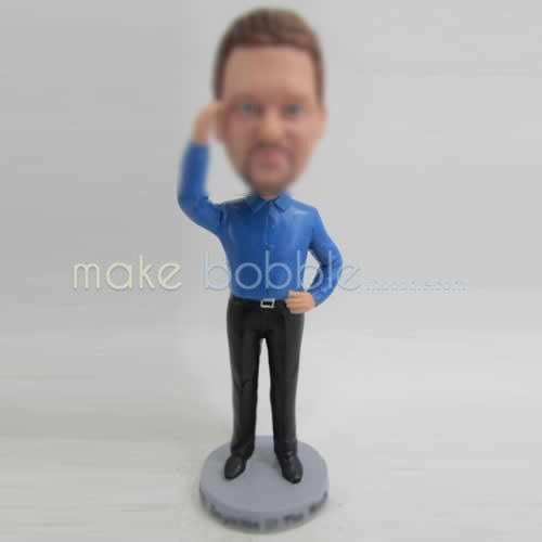 Personalized custom man in office bobble heads