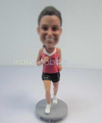 Custom bobblehead dolls female Runners