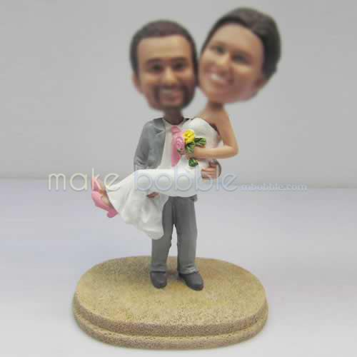 figurines de gâteau de mariage de plage personnalisé