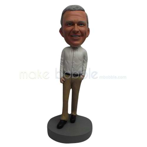 Custom work in office man bobbleheads