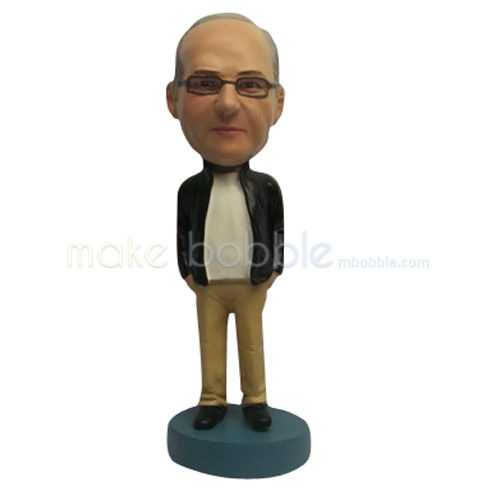 Personalized Custom casual man bobble heads
