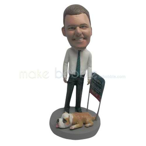 Custom work in office man bobblehead