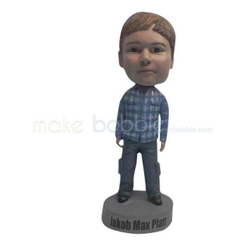 Personalized Custom casual Kids bobbleheads