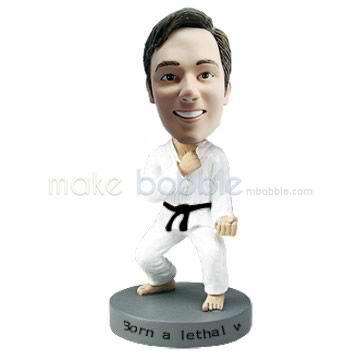 Custom bobble headsTaekwondo