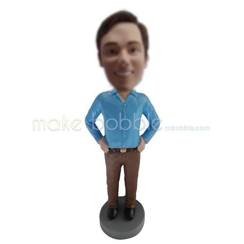 Personalized custom office man bobbleheads