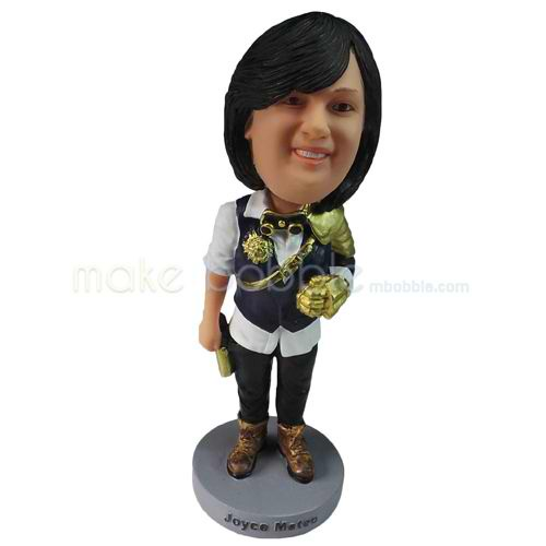 personalized custom chubby woman in funny clothes bobbleheads