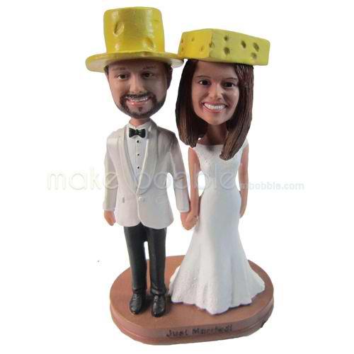 personalized custom funny wedding bobbleheads