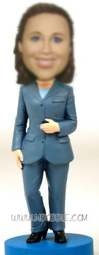 personalized custom office lady in suit bobblehead