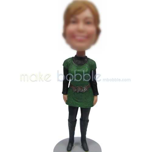 bobbleheads of black boots