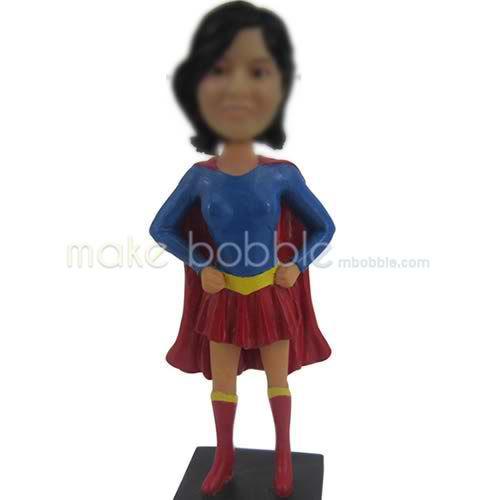 custom super girl bobbleheads